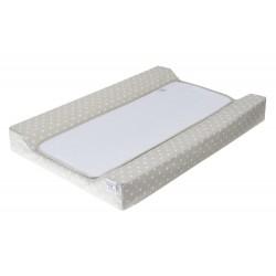 Colchon Cambiador tejido plastificado Bañera - Comoda - Topos blanco