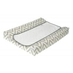 Cambiador tejido plastificado Bañera - Comoda mod. Chevron gris