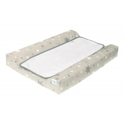 Cambiador tejido plastificado Bañera - Comoda mod. Estrellas gris