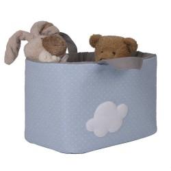 Bolsa Juguetes rectangular - NUBE azul funnybaby