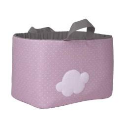 Bolsa Juguetes rectangular - NUBE rosa funnybaby