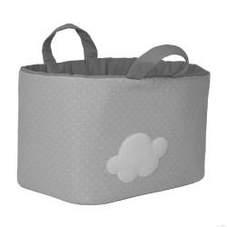 Bolsa Juguetes rectangular - NUBE gris funnybaby