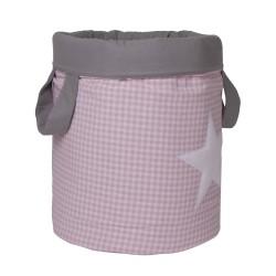 Bolsa Juguetes redonda - VICHY rosa funnybaby