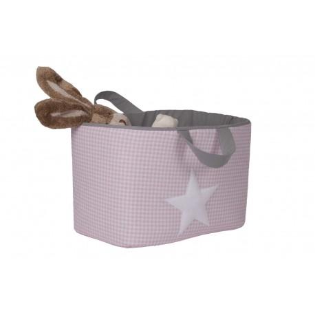 Bolsa Juguetes rectangular - VICHY rosa funnybaby