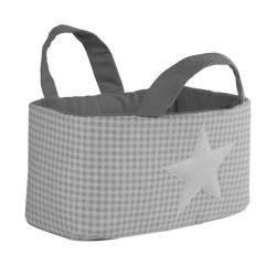 Bolsa Juguetes rectangular - VICHY gris funnybaby