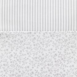 Minicuna moises tijera LIBERTY Gris perla - detalle tejidos