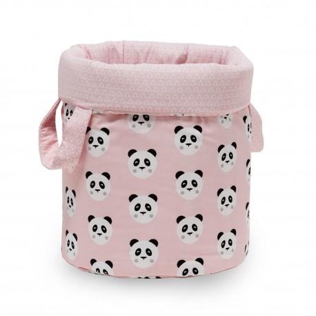 Bolsa Juguetes redonda - PANDY rosa - funny baby