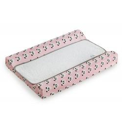 Colchon Cambiador tejido plastificado Bañera - Comoda - Pandy rosa