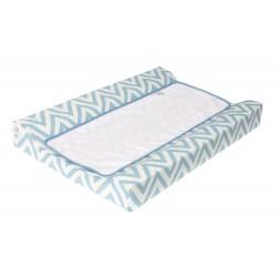 Colchon Cambiador tejido plastificado Bañera - Comoda - Chevron azul