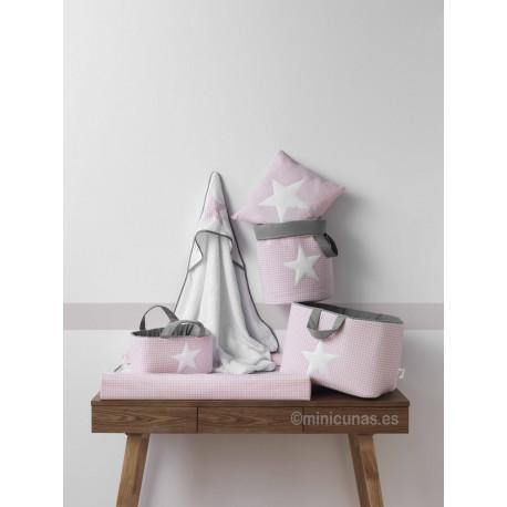 Colchon Cambiador - Vestidor Bebe - Vichy rosa